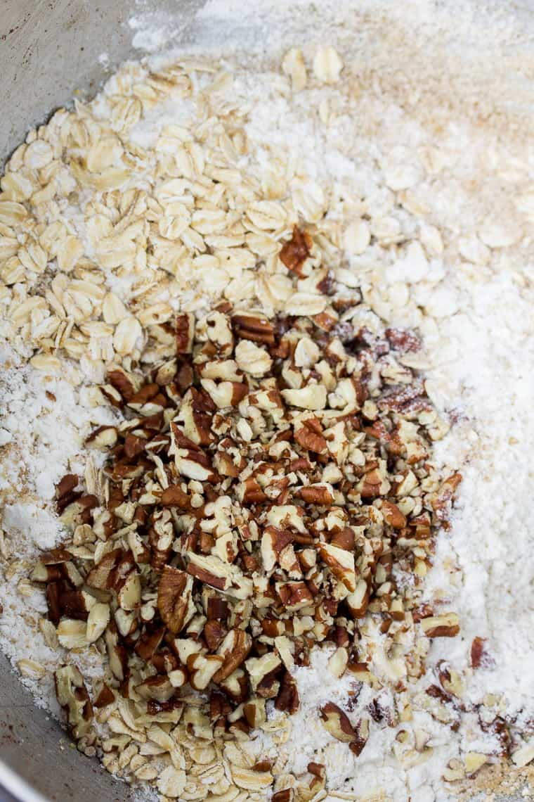 Dry Ingredients for the Oat Topping