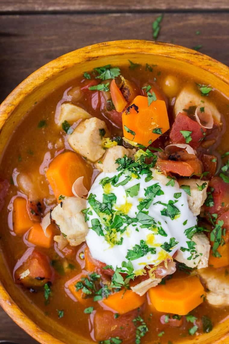 Moroccan Chicken Stew Close Up