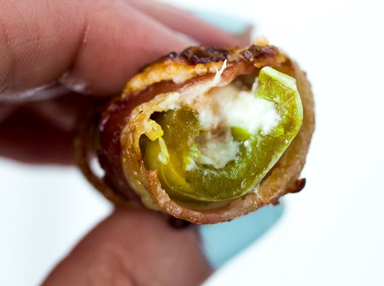 Bacon Stuffed Jalapeno Popper with a Bite