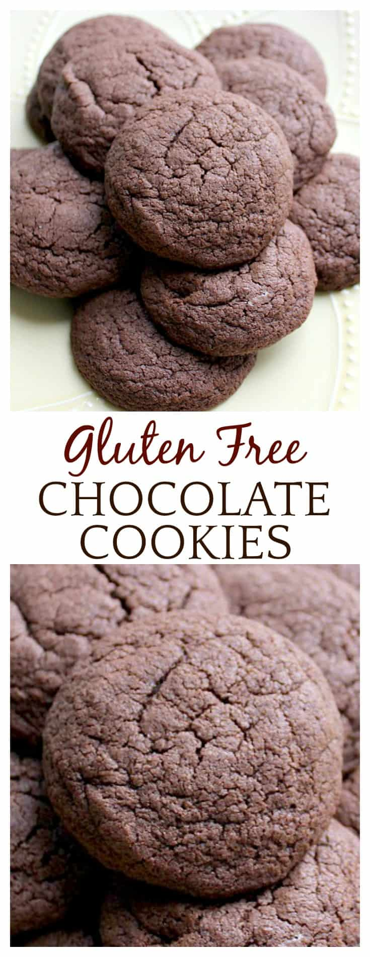 The best gluten free chocolate cookie recipe I've tried yet! They are delicious on their own or you can mix in chips, nuts, dried fruit, or whatever you please! So good - bet no one will even know they are gluten free!