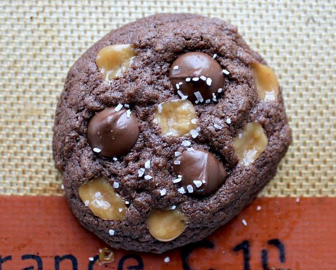 Gluten Free Salted Caramel Chocolate Chip Cookies