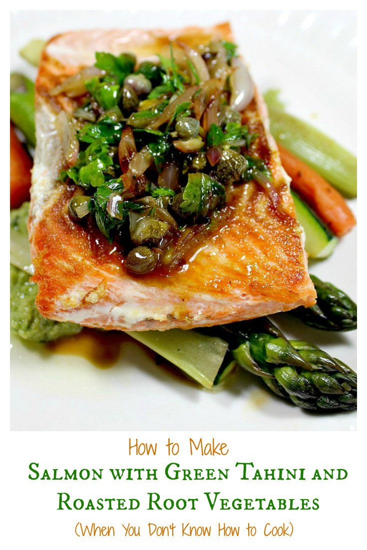 Too Busy To Make Dinner - Salmon with Green Tahini