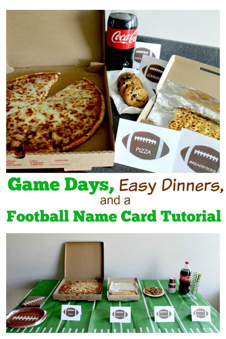 Games Days and Easy Dinners