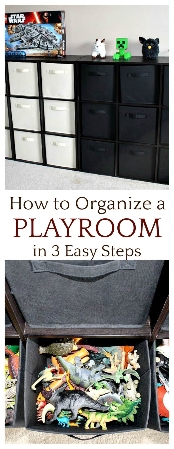 There are only 3 steps to take to organize a playroom. I'm not saying it will be quick, but it's worth it - especially when you follow through with the last step - setting rules.