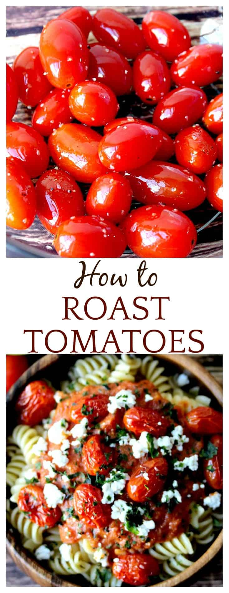 If only I knew how to make oven roasted tomatoes was so easy I would have done it a hundred times already!! Use this easy roasted tomatoes recipe to add these delicious little pops of flavor to all kinds of dishes from pasta to salads to sandwiches! Just yum!