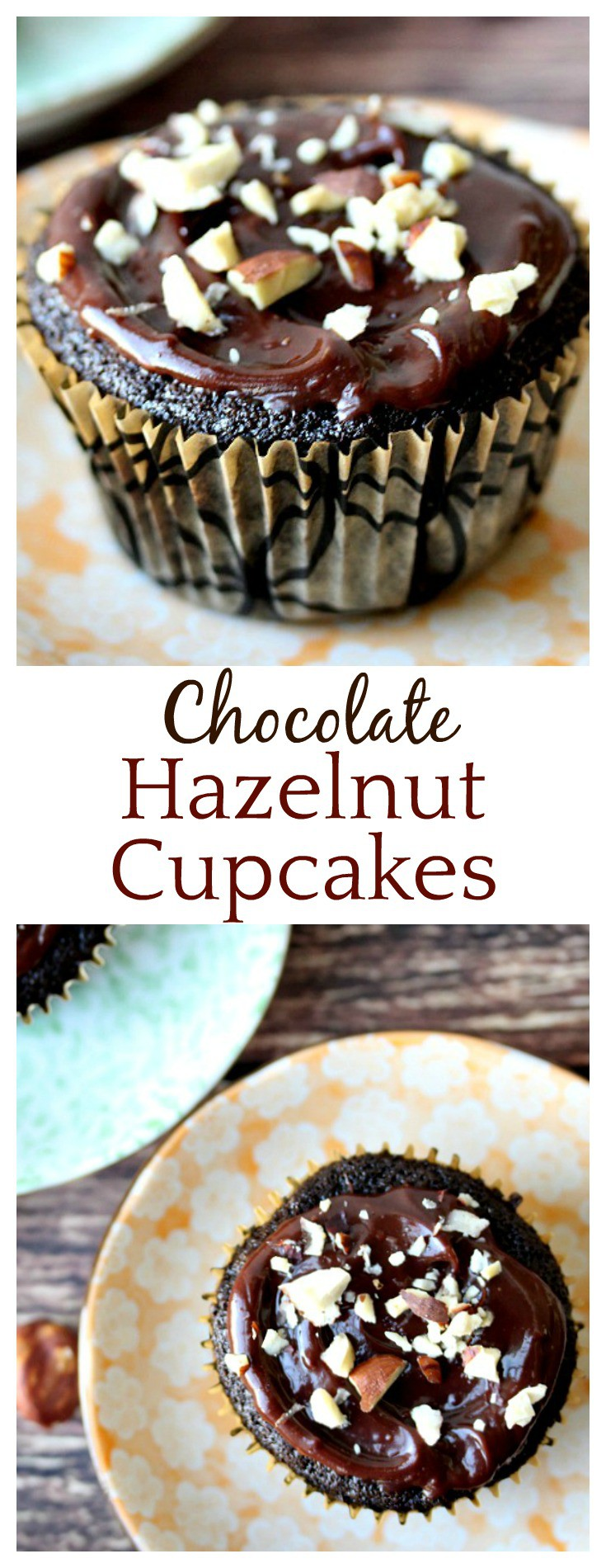 If you love Nutella, you will love this Chocolate Hazelnut Cupcakes Recipe! With hazelnut extract in a classic chocolate cupcake recipe and a chocolate ganache icing topping them off, every bite is simply amazing!