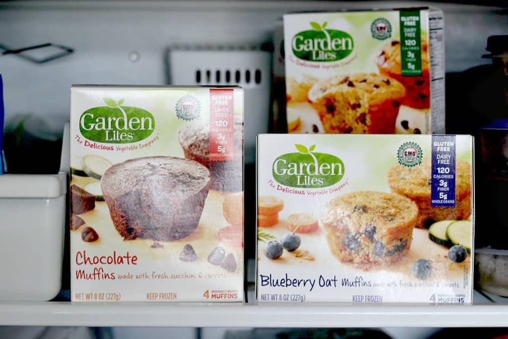 Garden Lites Muffins in the freezer