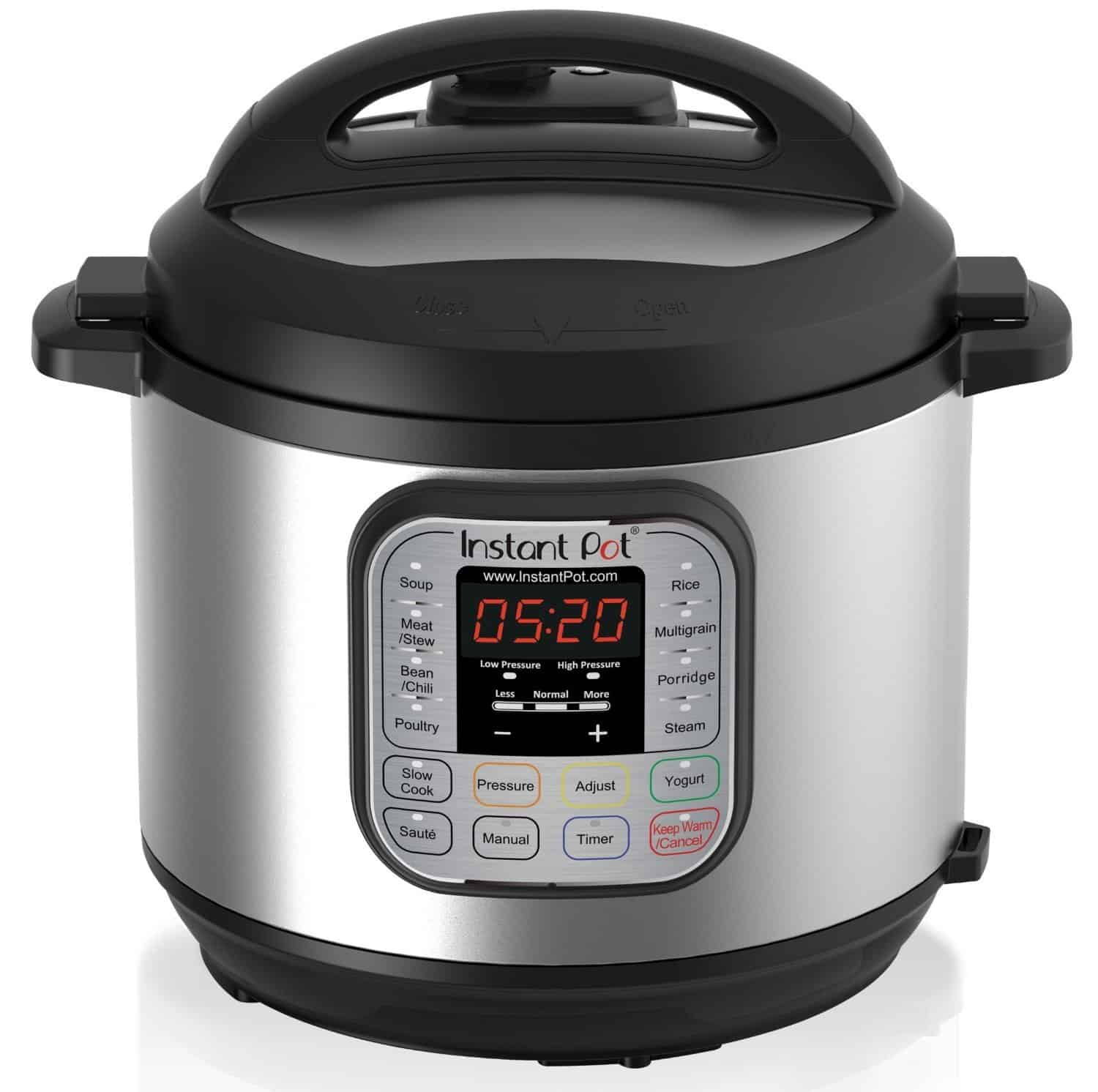 Instant Pot on a white back ground