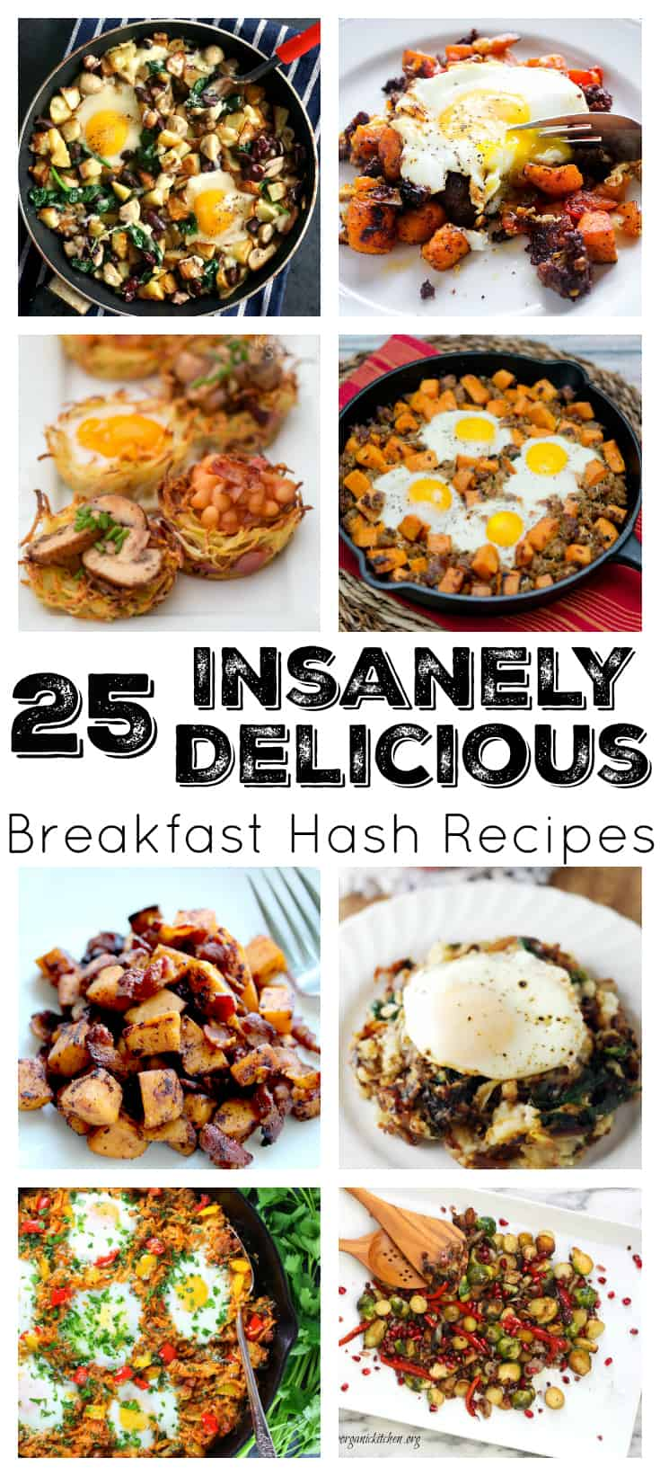Take your pick from any one of these 25 insanely delicious breakfast hash recipes - you will not be disappointed! They all are great for breakfast, brunch, or even dinner! | www.DeliciousLittleBites.com