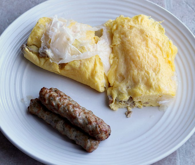 Sausage and Egg Paleo Wrap