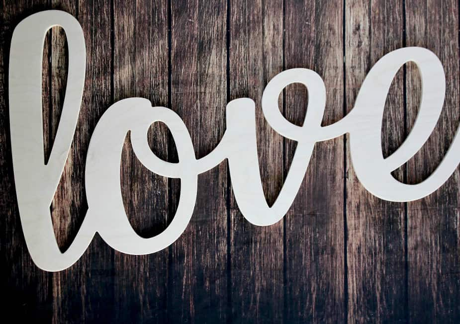 Unfinished Words Love Sign