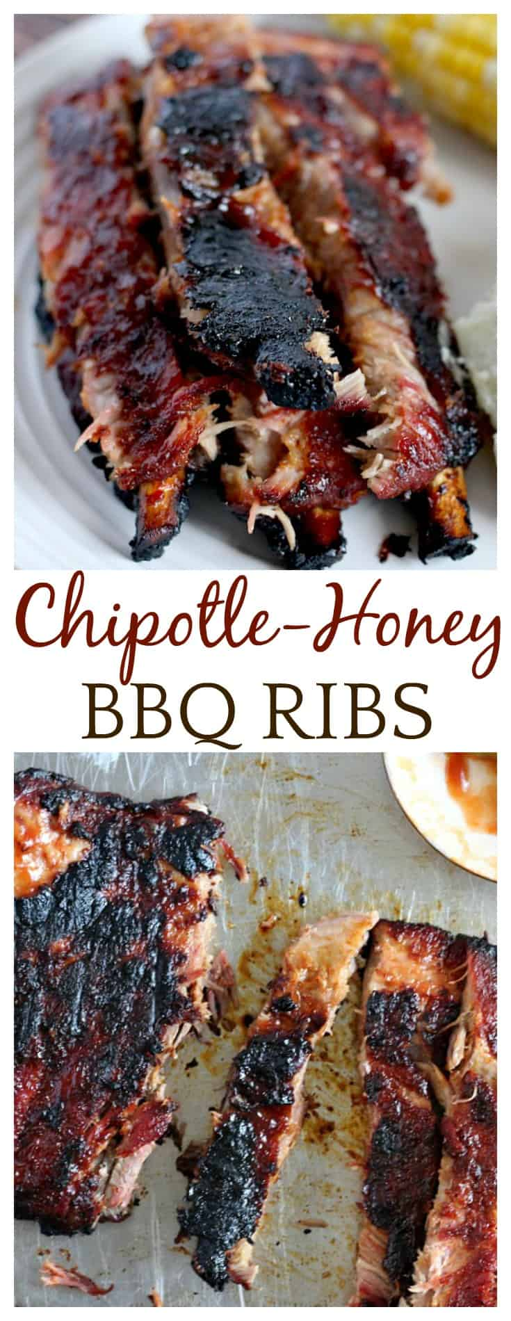 I first made this Chipotle-Honey Barbecue Spareribs recipe around Memorial Day and can't even tell you how many times it's been requested since then!  I had to share it!  These ribs give you a nice balance of smoky chipotle heat and sticky honey sweetness - a perfect way to end grilling season right!