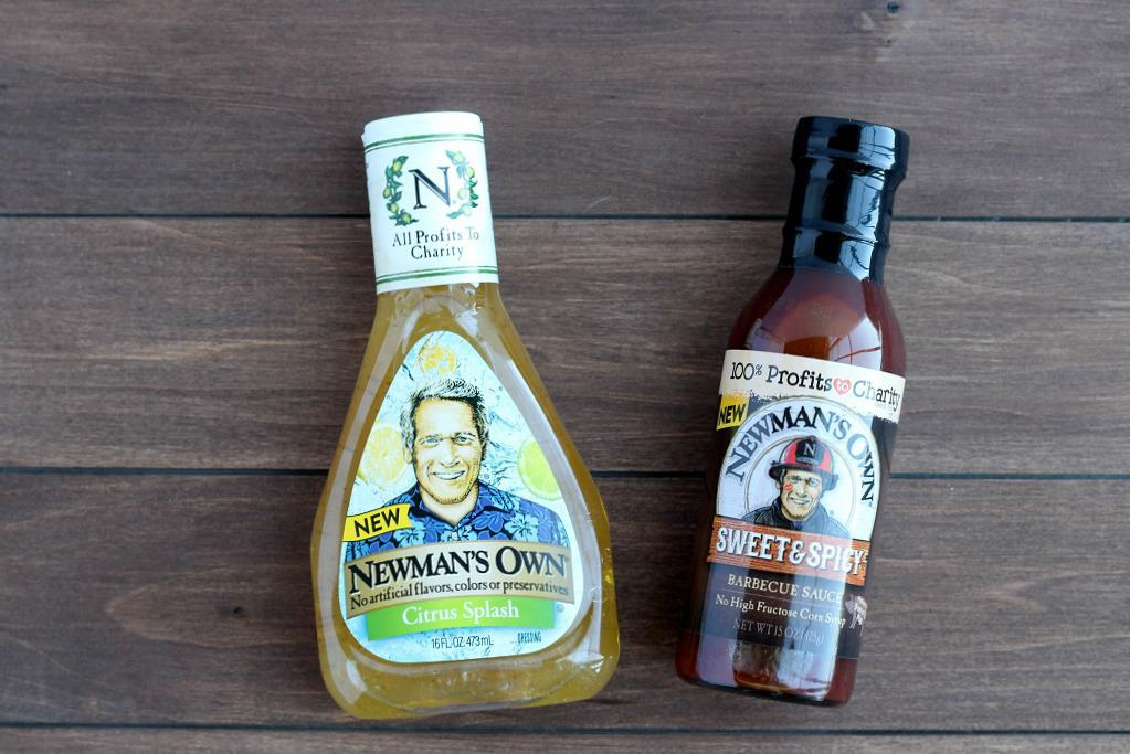 Newman's Own Dressing and Barbecue Sauce