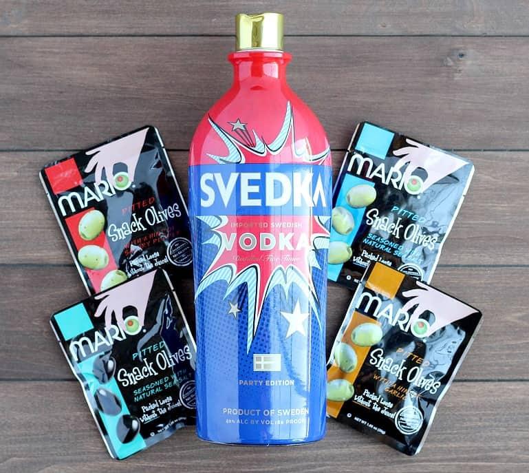 SVEDKA Vodka and Mario Snack Olives