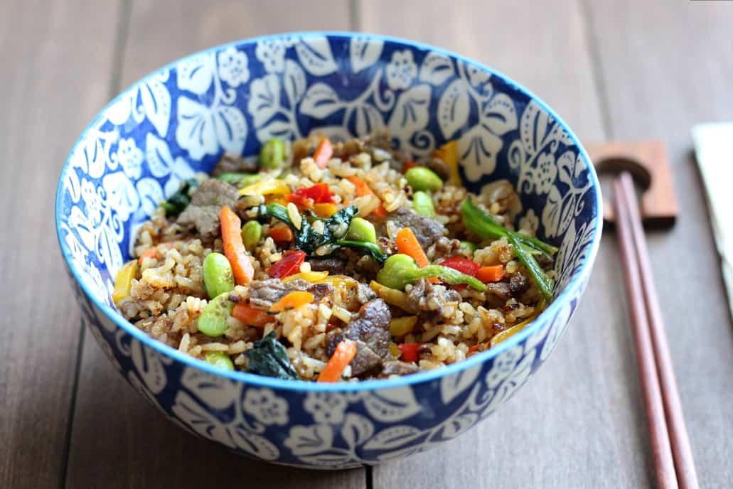 Ling Ling Bibimbap Beef Fried Rice in a Bowl