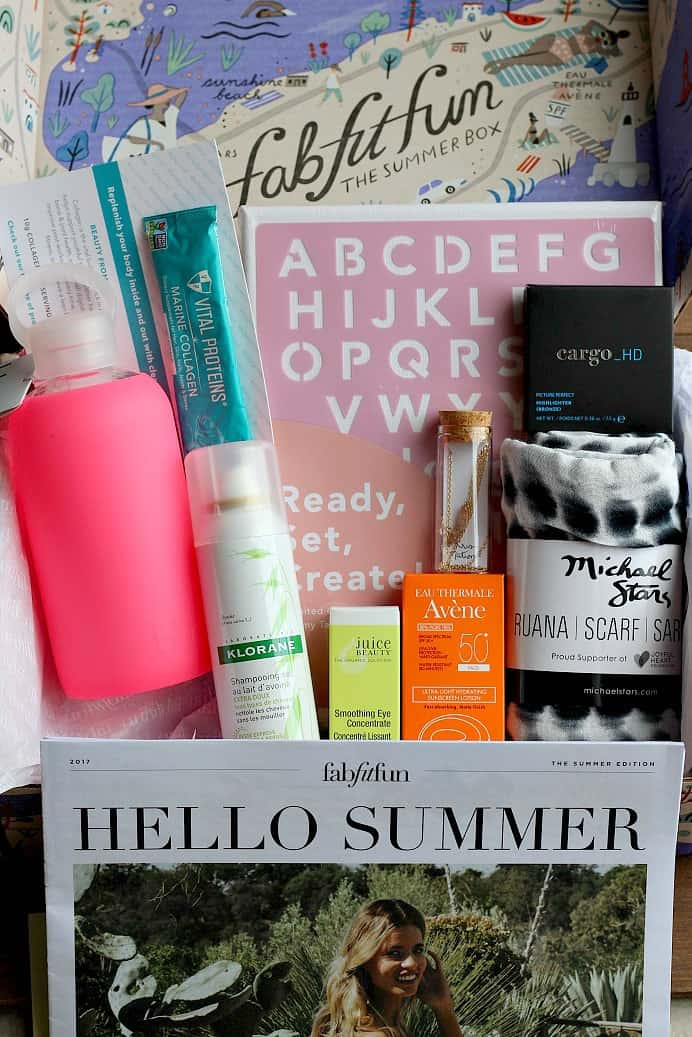 Box Contents for my 2017 Summer FabFitFun Review. The items and value of this season's box are simply amazing!
