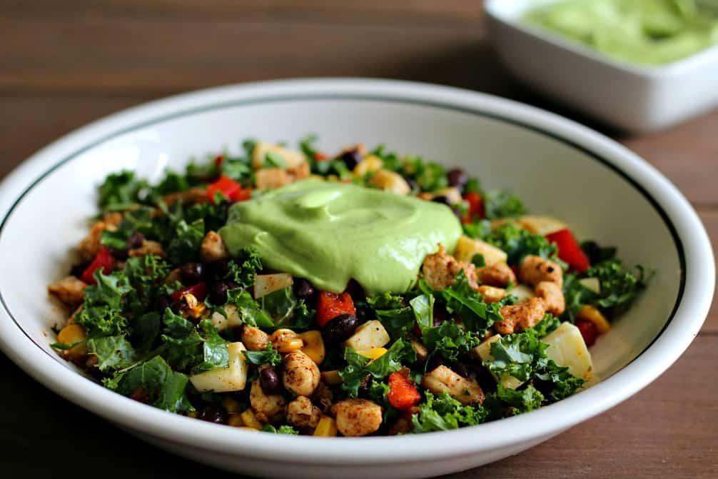 Tossed Salad with Avocado Puree