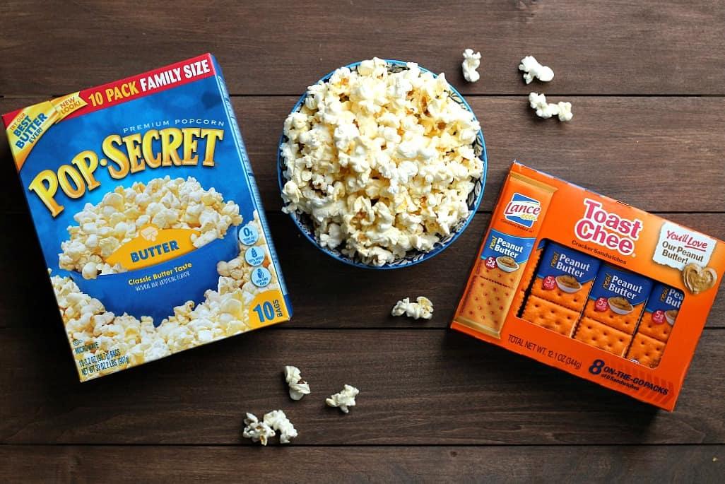 Pop Secret Popcorn and Lance Crackers