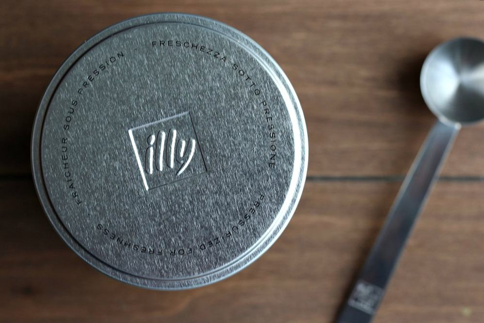 Top of illy Coffee Can