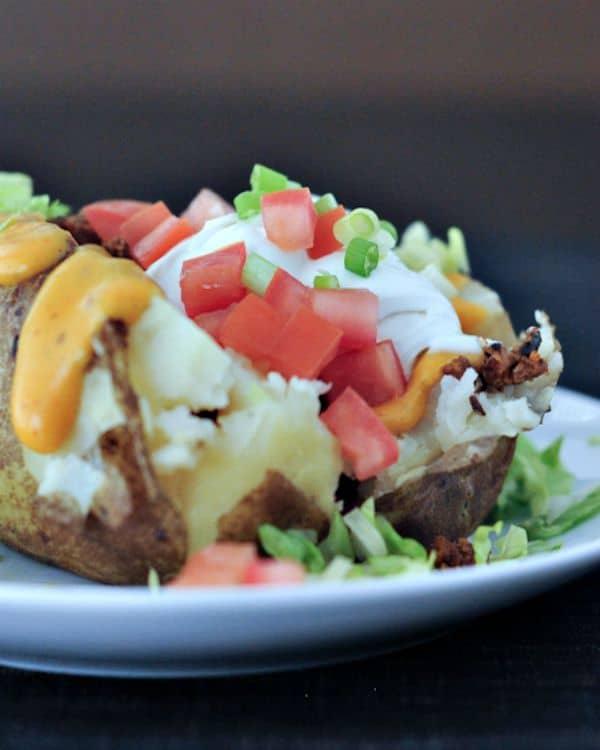 Taco Stuffed Baked Potato