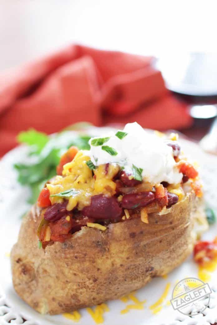 Chili Cheese Baked Potato