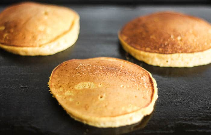 Cooked Pancakes on the Griddle