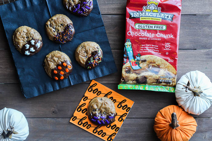 Gluten Free Halloween Cookies with Immaculate Cookie Dough