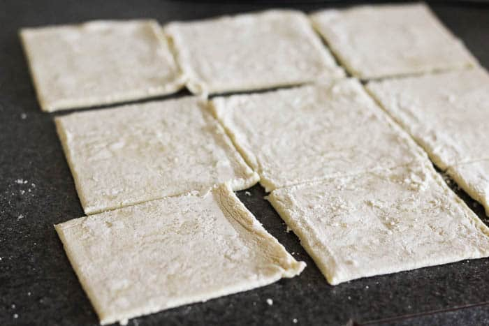 Puff Pastry Cut Into 9 Squares