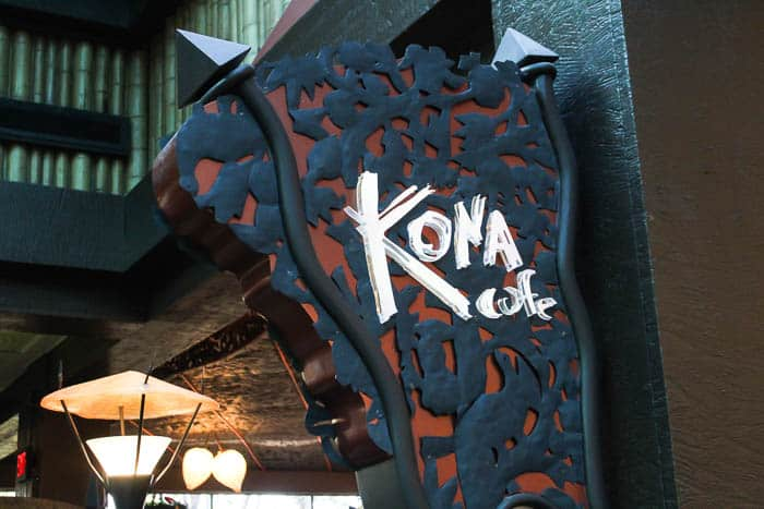 The Kona Cafe Sign