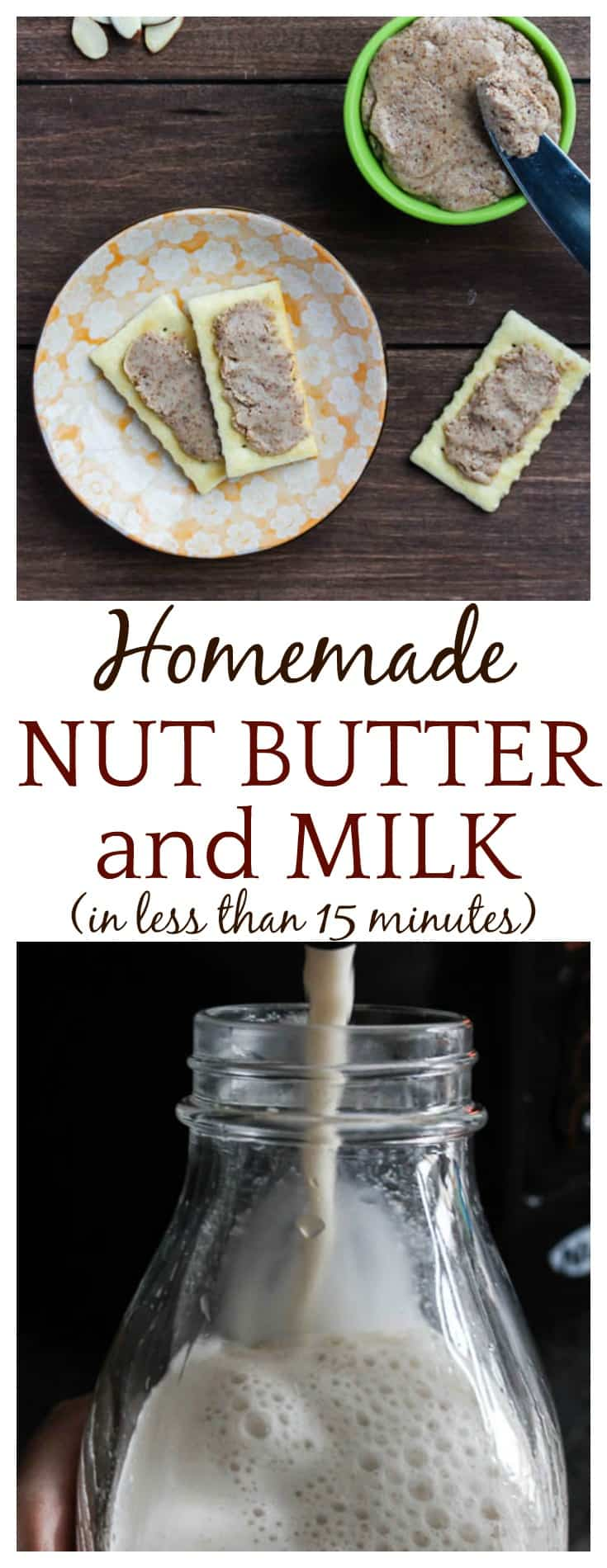You can now make your own homemade nut butter and plant-based alternative milk in less than 15 minutes with The NutraMilk! Also makes seed butter, hummus, dips, smoothies and more! #ad #Pmedia #TheNutraMilk #homemademilk #homemade #homemadenutbutter