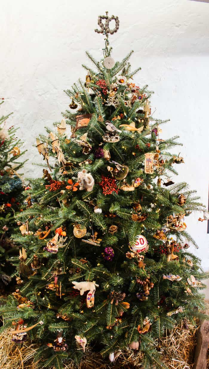 One of Many Decorated Christmas Trees at Brandywine River Museum