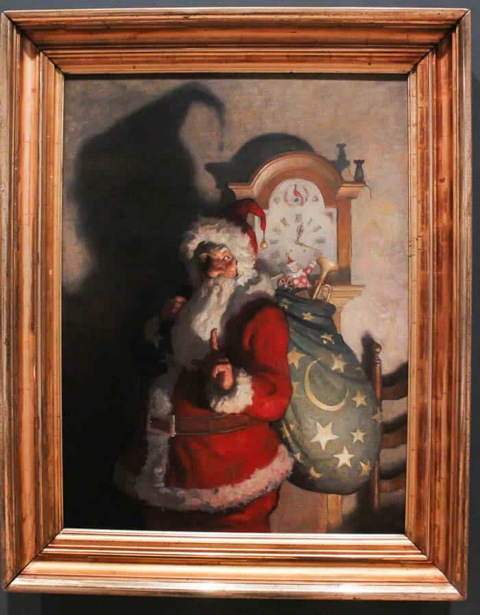 A Painting of Santa Claus at The Brandywine River Museum