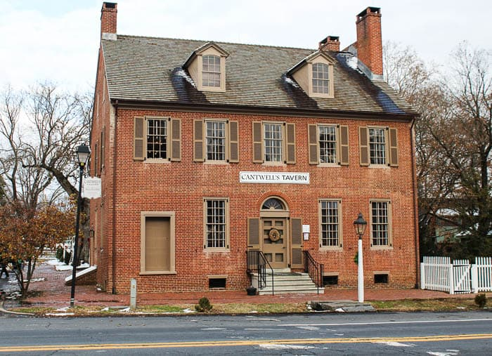 The Exterior of Cantwell's Tavern in Historic Odessa, Delaware   December 2017 Cantwell's Tavern Review