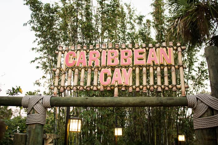 Caribbean Cay Sign