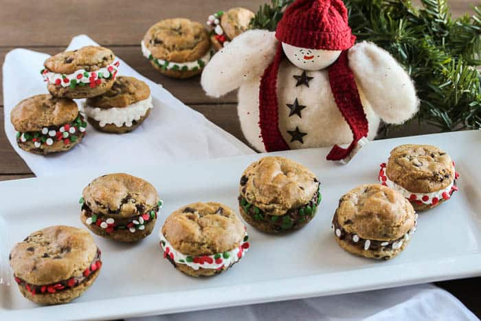 Easy Gluten Free Christmas Cookies Set Out on a Tray with Holiday Decorations
