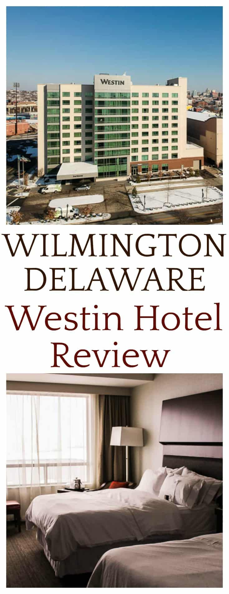 This Wilmington Westin Hotel Review is based off of my personal experience staying there in December 2017. | #westin #westinhotelreview #westinhotel #hotels #hotelreview #travel #delaware #wilmington