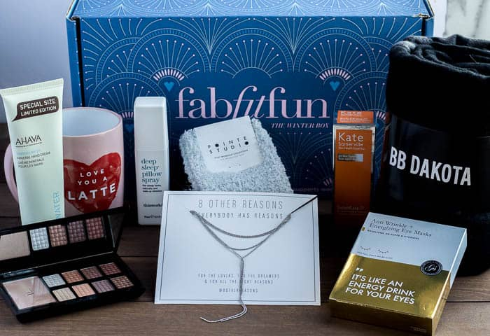 Winter 2017 FabFitFun Winter Box Contents