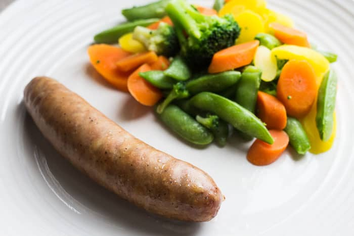 Apple Gouda Sausage and PTF Blend Vegetables