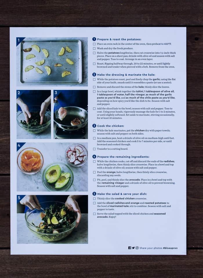 Recipe Instructions for Chicken & Orange-Kale Salad