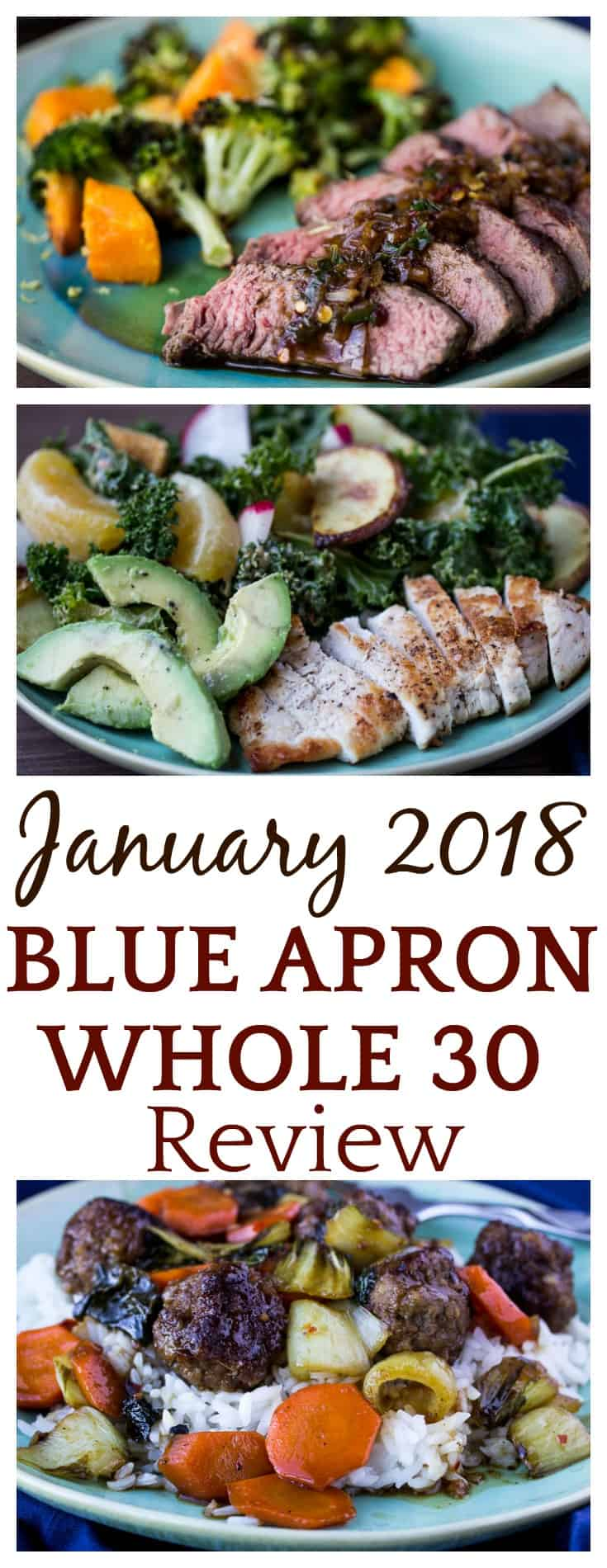 For 8 weeks in the beginning of 2018, Blue Apron teamed up with Whole 30 to bring you even more healthier meal options! This is a Blue Apron Whole 30 Review for just one of those weeks! | #blueapron #blueapronmeals #whole30 #whole30recipes #mealkit