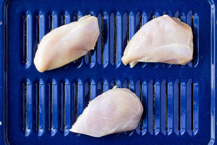 3 Chicken Breasts on a Broiler Pan