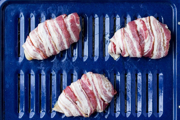 3 Chicken Breasts Wrapped in Bacon