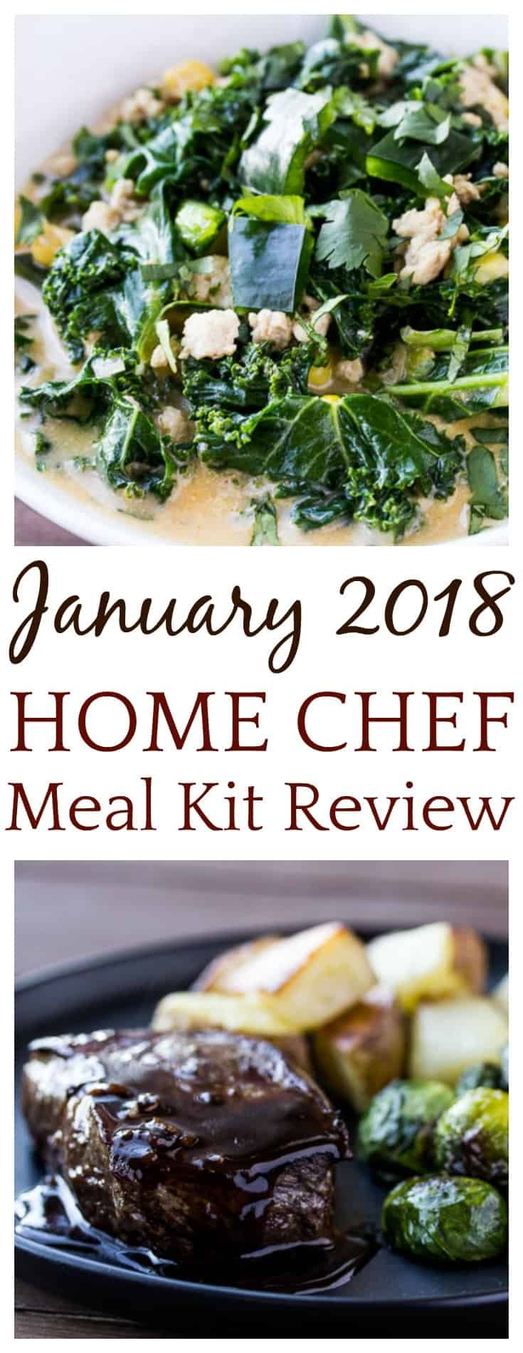 I love a good food subscription box! This January 2018 Home Chef Meal Kit Review is my second this month! The recipes were easy and delicious and the value has been really good! | #mealkit #homechefmeals #homechef #mealkitreview #subscriptionbox #foodsubscription | food subscription box | subscription box review