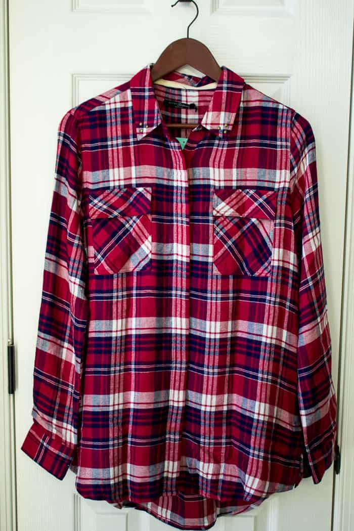 Stitch Fix JACHS GIRLFRIEND Calinda Studded Detail Shirt