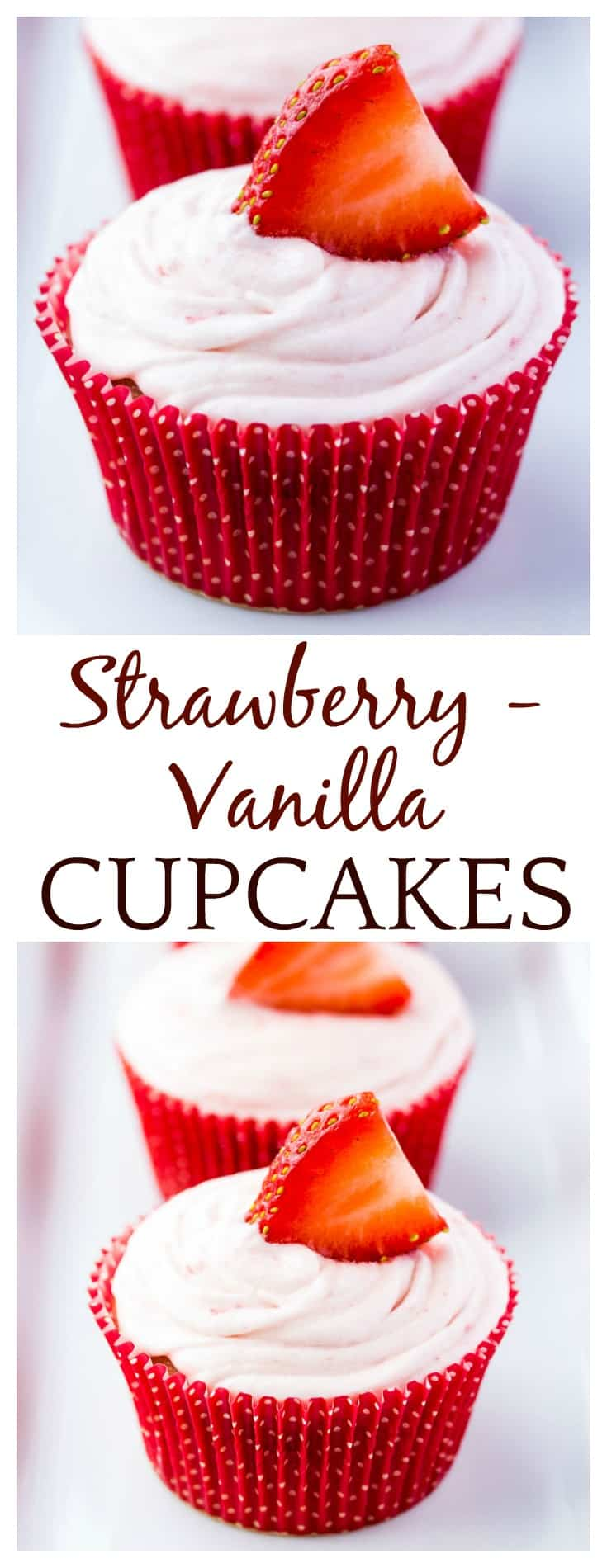 These Strawberry Vanilla Cupcakes with Strawberry Vanilla Icing will most definitely satisfy your sweet tooth! This is an easy recipe that's perfect for Valentine's Day and any and all Spring parties! | #cupcakes #baking #strawberry #strawberries #dlbrecipes