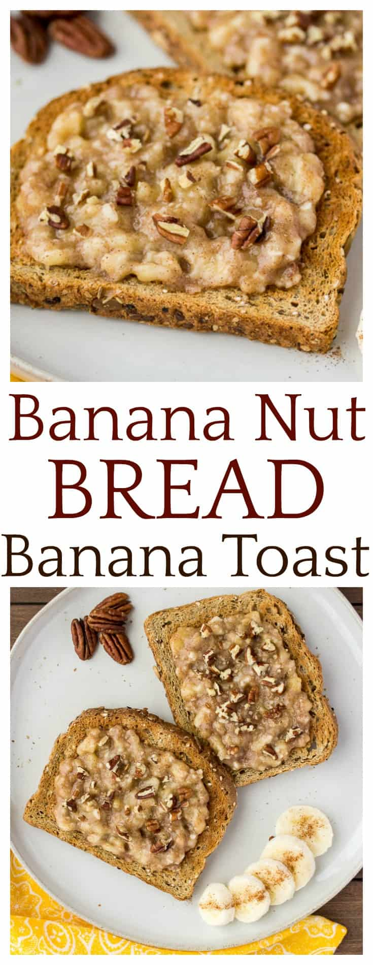 Banana Nut Bread Banana Toast combines all the flavors of this popular bread recipe into a delicious 5-minute breakfast! Who doesn't love a quick, delicious breakfast recipe? | #breakfast #banana #bananatoast #easyrecipes #dlbrecipes