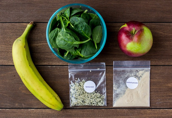Ingredients for Green with Energy Smoothie