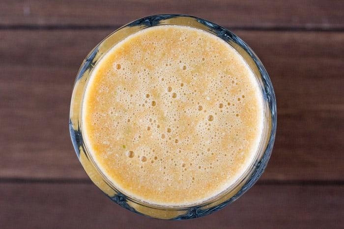 Green Blender Orange Carrot Cashew Smoothie