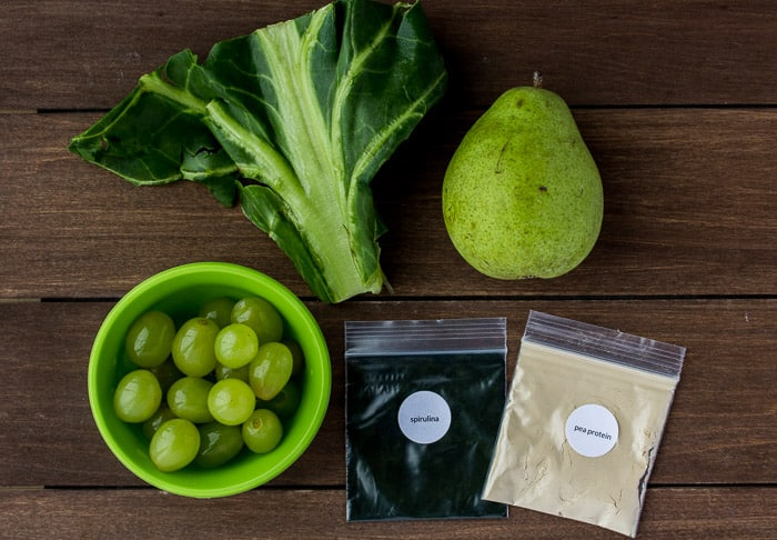 Ingredients for the Green Grape Hydrate Smoothie