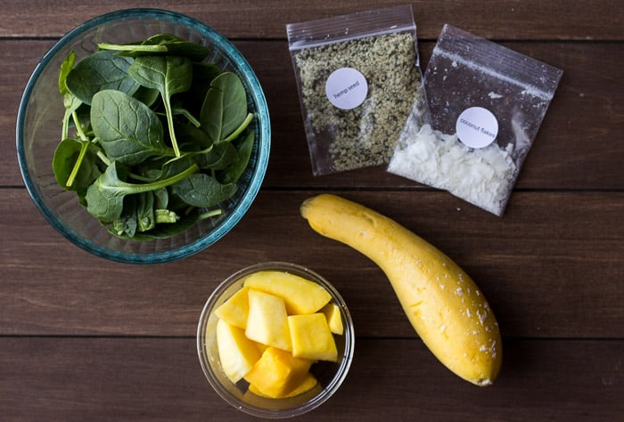Ingredients for the Coconut Mango Smoothie